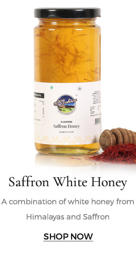 Himalayan white honey mixed with saffron tends become more nutritious