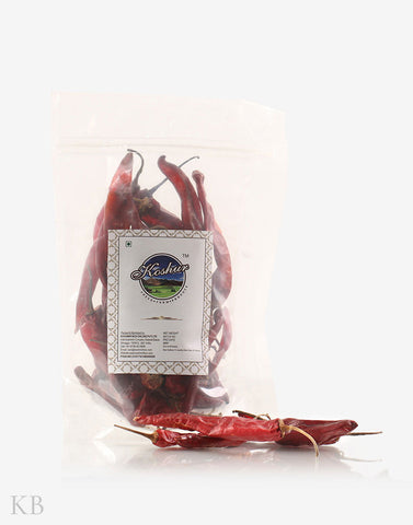 Dried Kashmiri Red chilies - KashmirBox.com