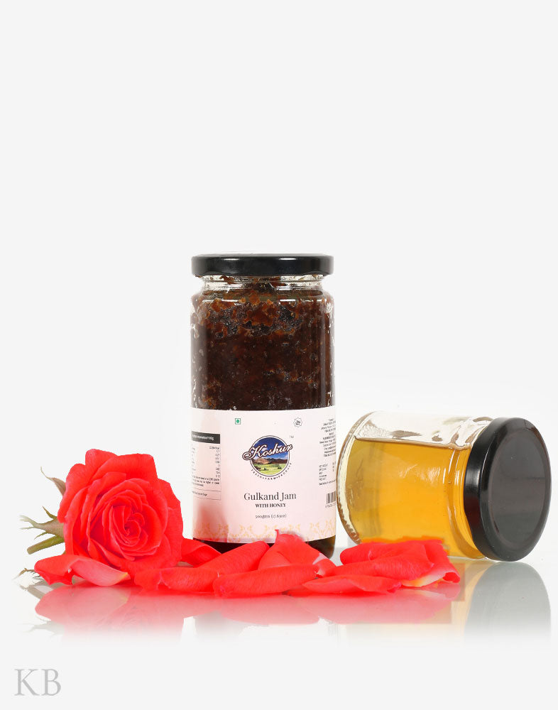 Koshur Gulkand Jam With Honey - Kashmir Box
