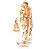 Hand Made Embroidered White Silk  Jacket