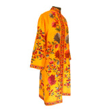 Hand Made Embroidered Yellow Silk Jacket