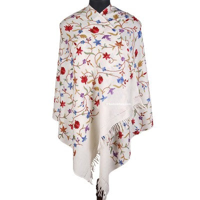 White Work Embroidered Stole
