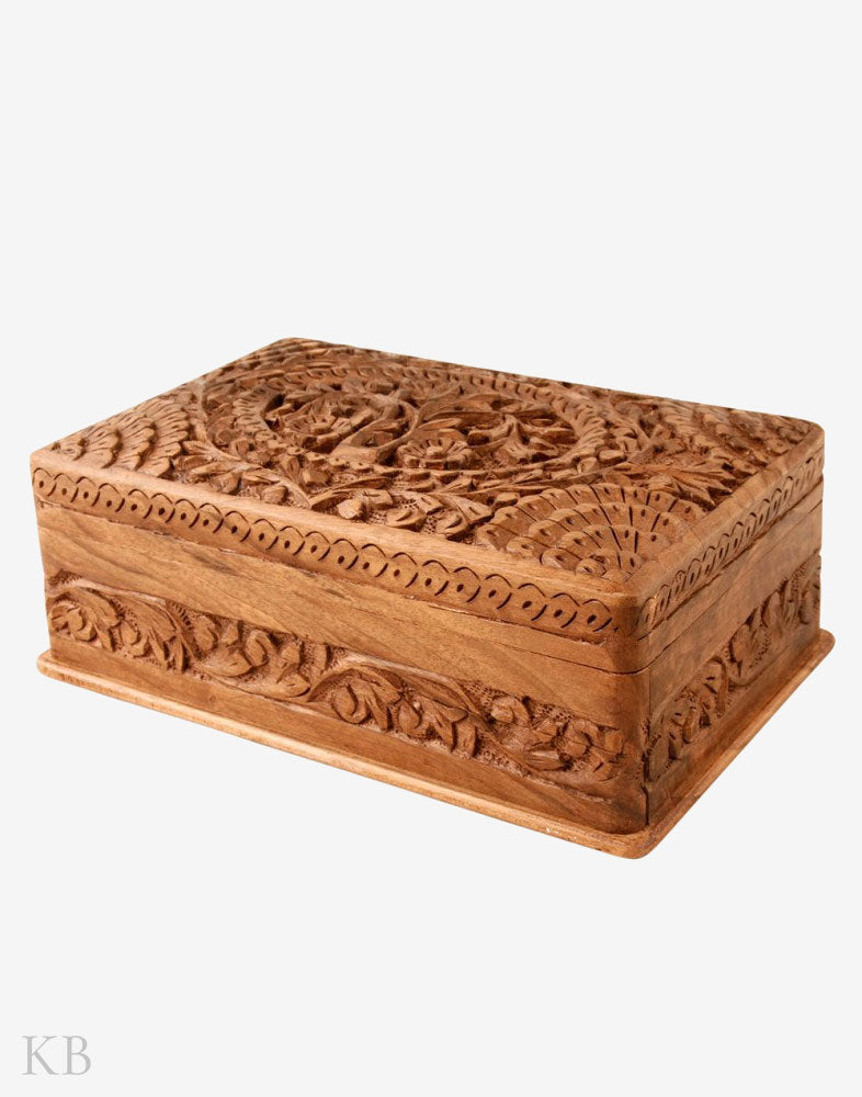 Chinar Design Jewellery Box - Kashmir Box