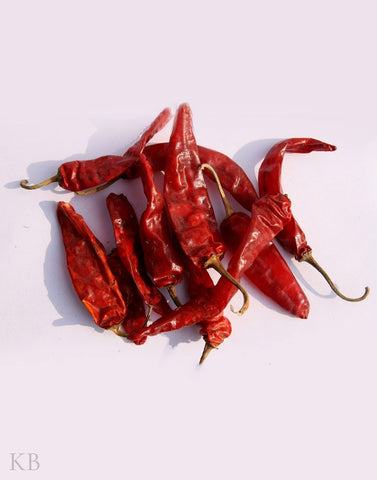 Dried Kashmiri Red chilies