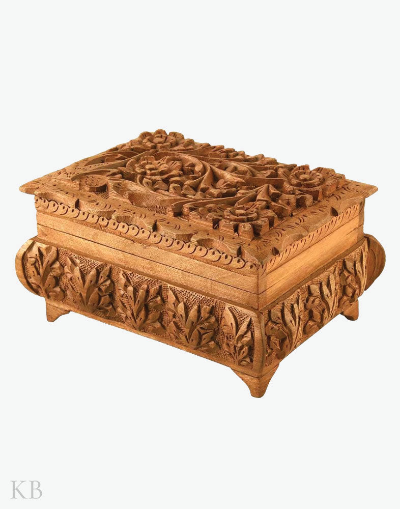 Exquisite Carved Jewellery Box