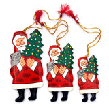 Paper Mache Santa Claus (Set of 3) - Kashmir Box