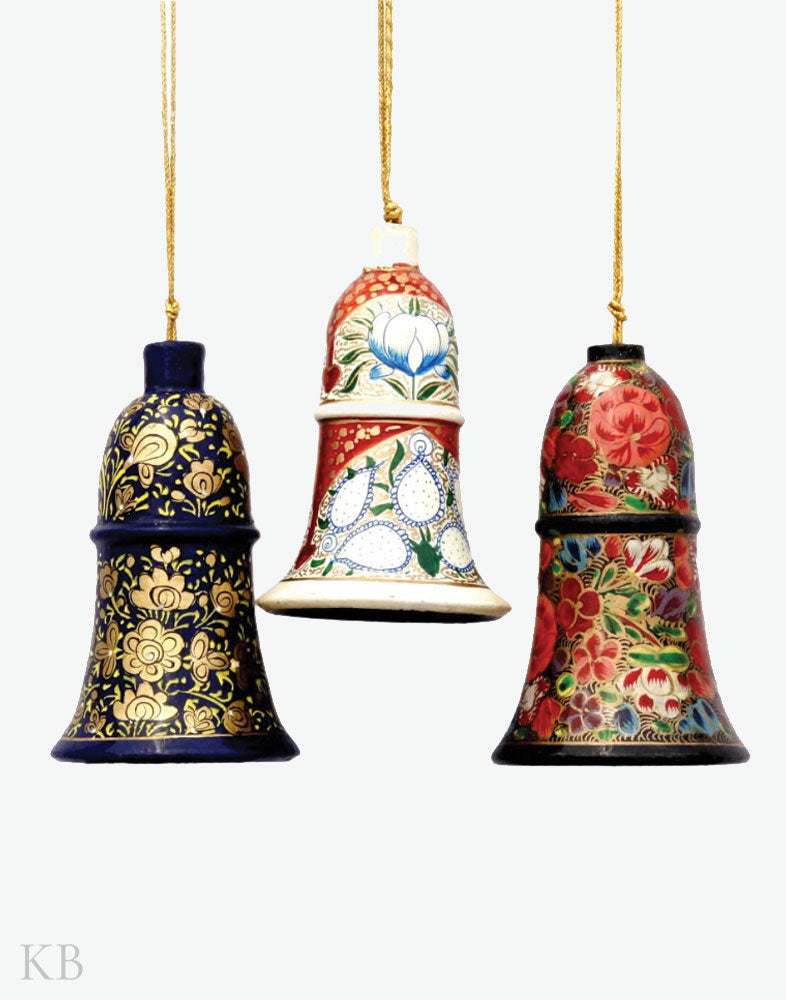Paper Mache Bell Set (Set of 3)