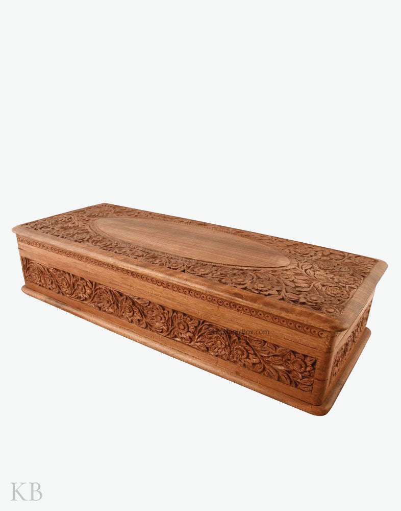 Carved Large Jewellery Box
