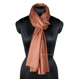 Earthy Brown Woolen Stole
