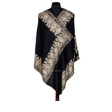 Eagle Black Woolen Stole