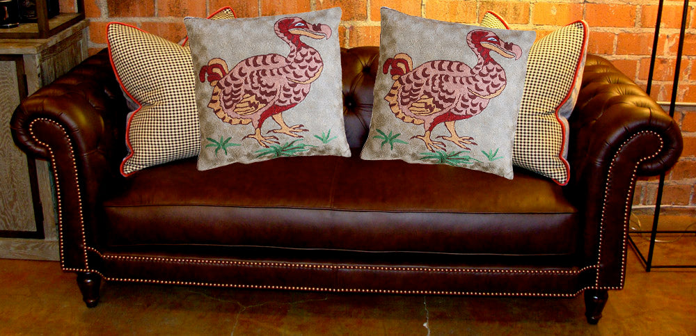 Duck Chain Stitched Cushion Cover (Set of 3) - Kashmir Box