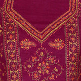 Sozni Embroidered Full Length Magenta Woolen Suit