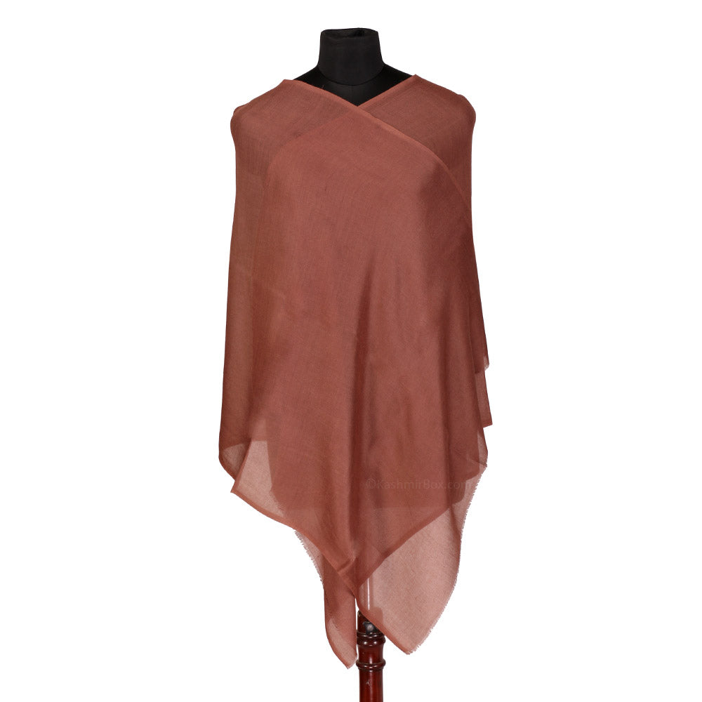 Deep Brown Woolen Stole