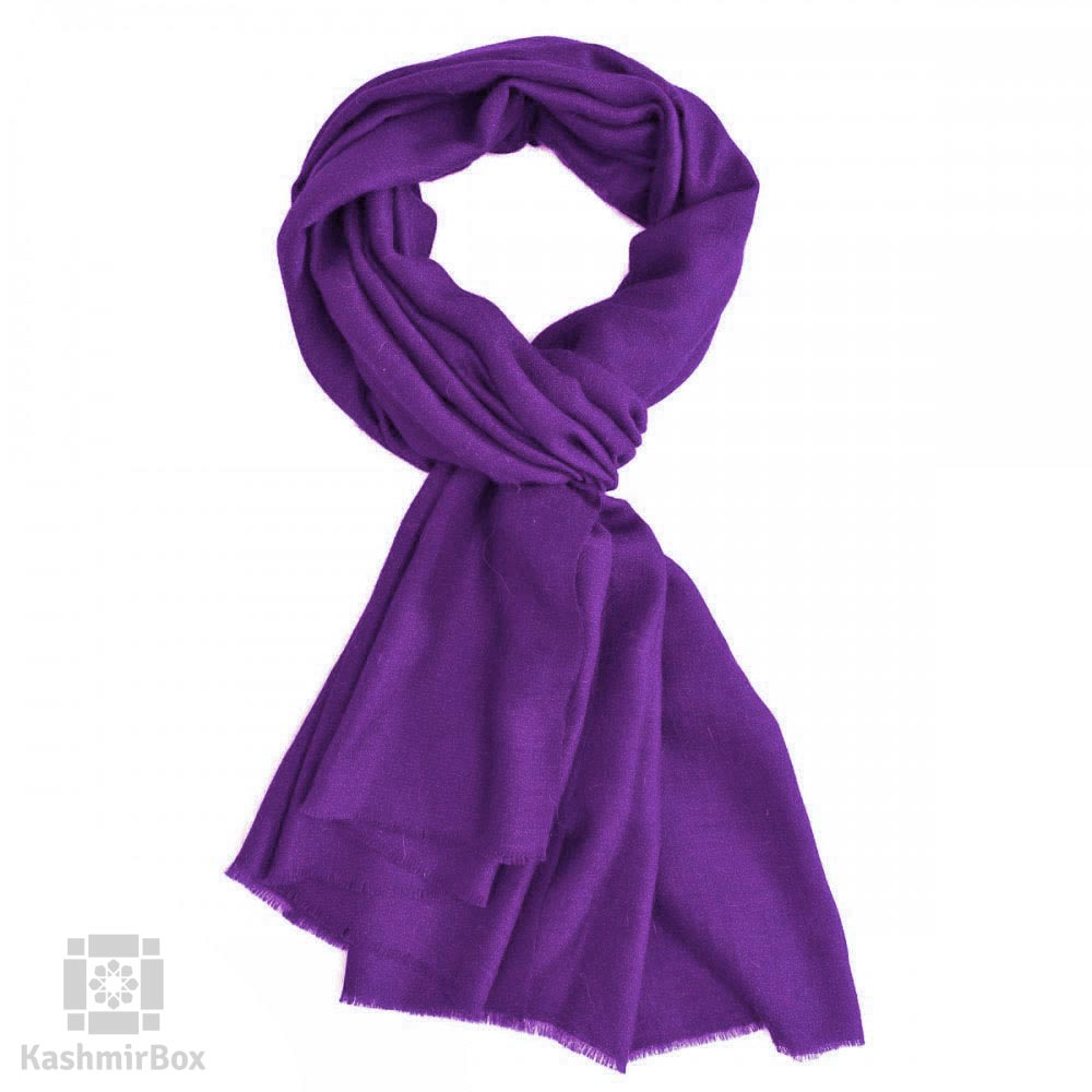 Purple Basket Weave Woolen Stole