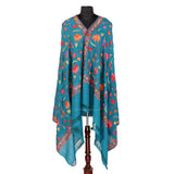 Poseidon Aari Embroidered Woolen Shawl - Kashmir Box
