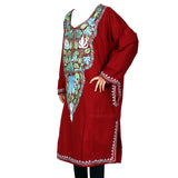 Red Aari Embroidered Cashmilon Phiran
