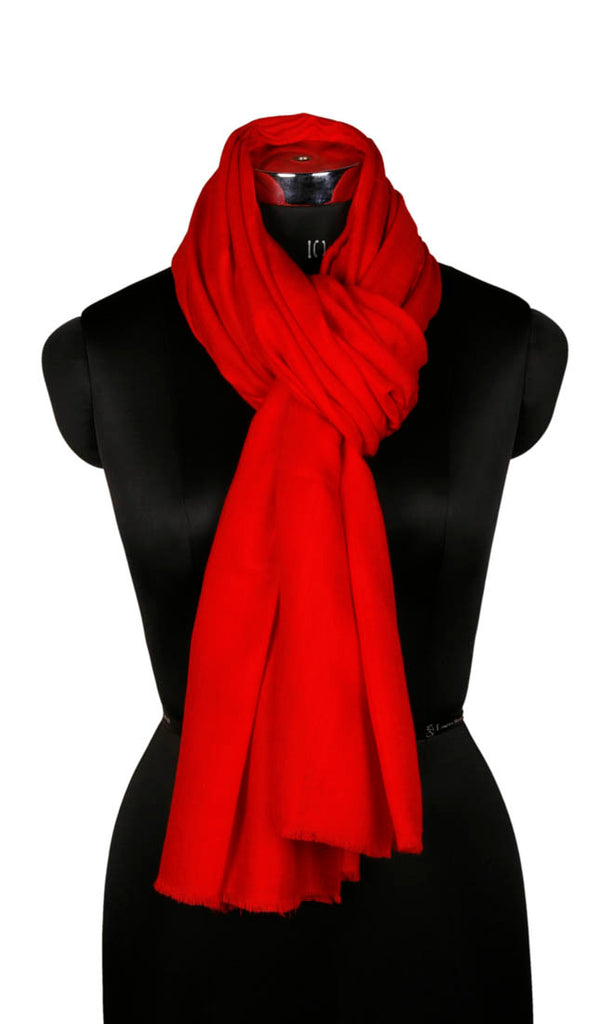 Red  Woolen Shawl - Kashmir Box