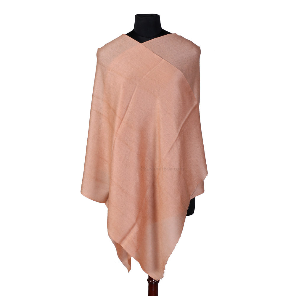 Pink Solid Pure Silk Stole