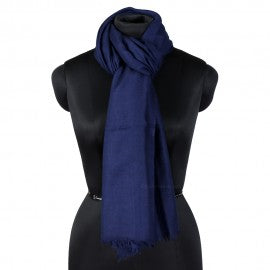 Dark Blue Woolen Scarf