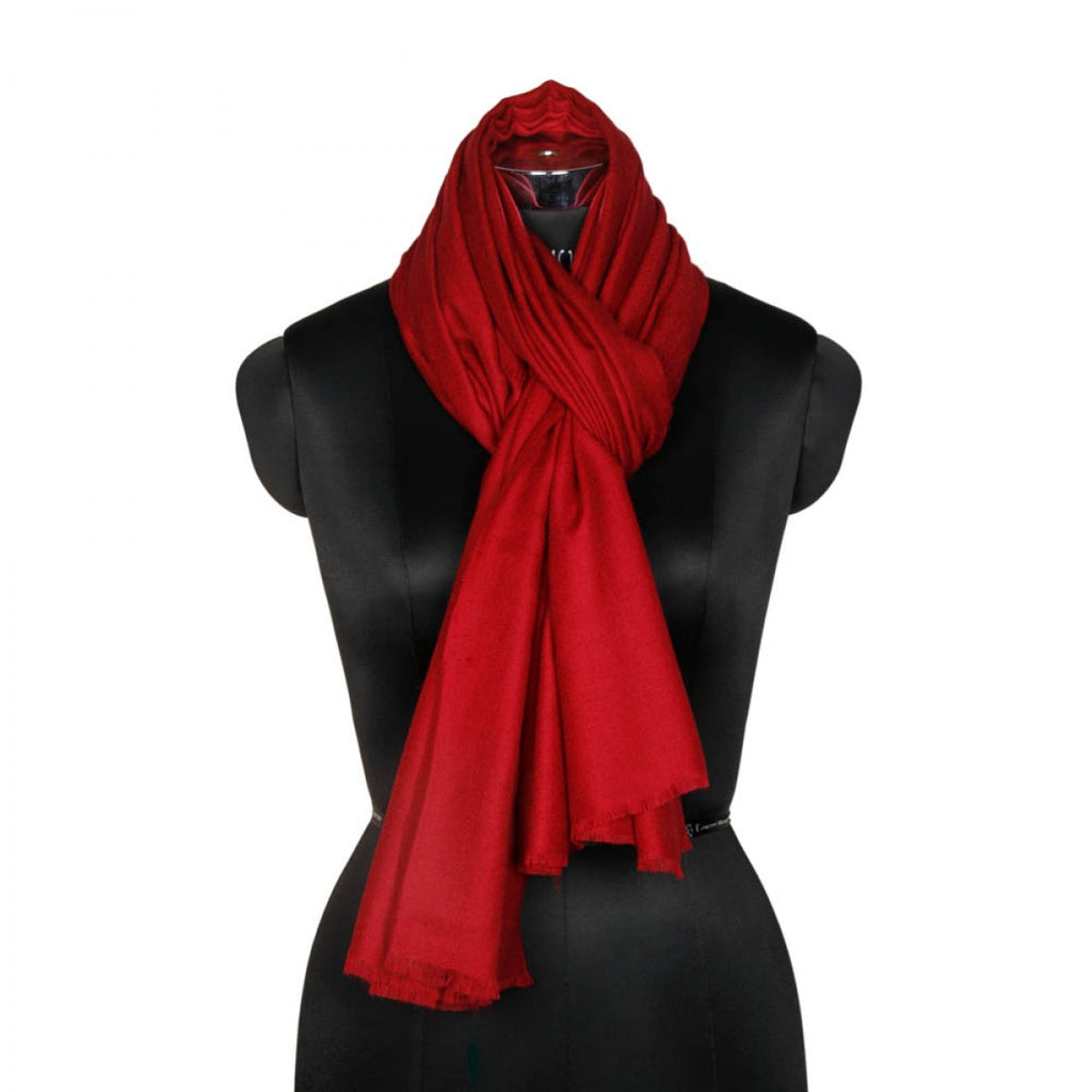 Maroon Cashmere Pashmina Scarf