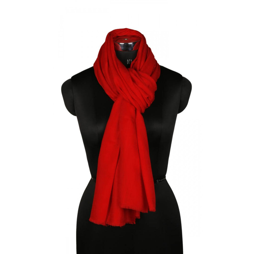 Passion Red Cashmere Pashmina Scarf