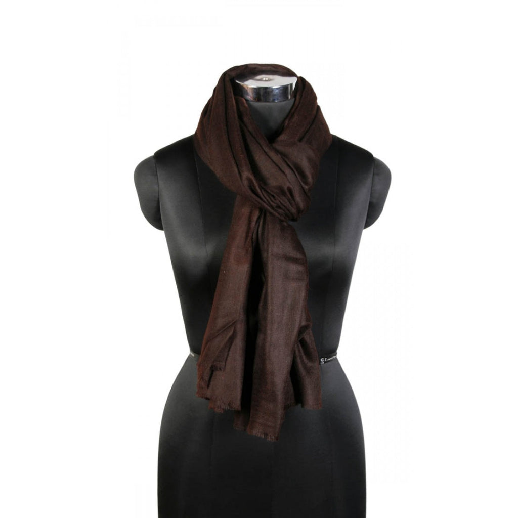 Earthy Brown Cashmere Pashmina Scarf