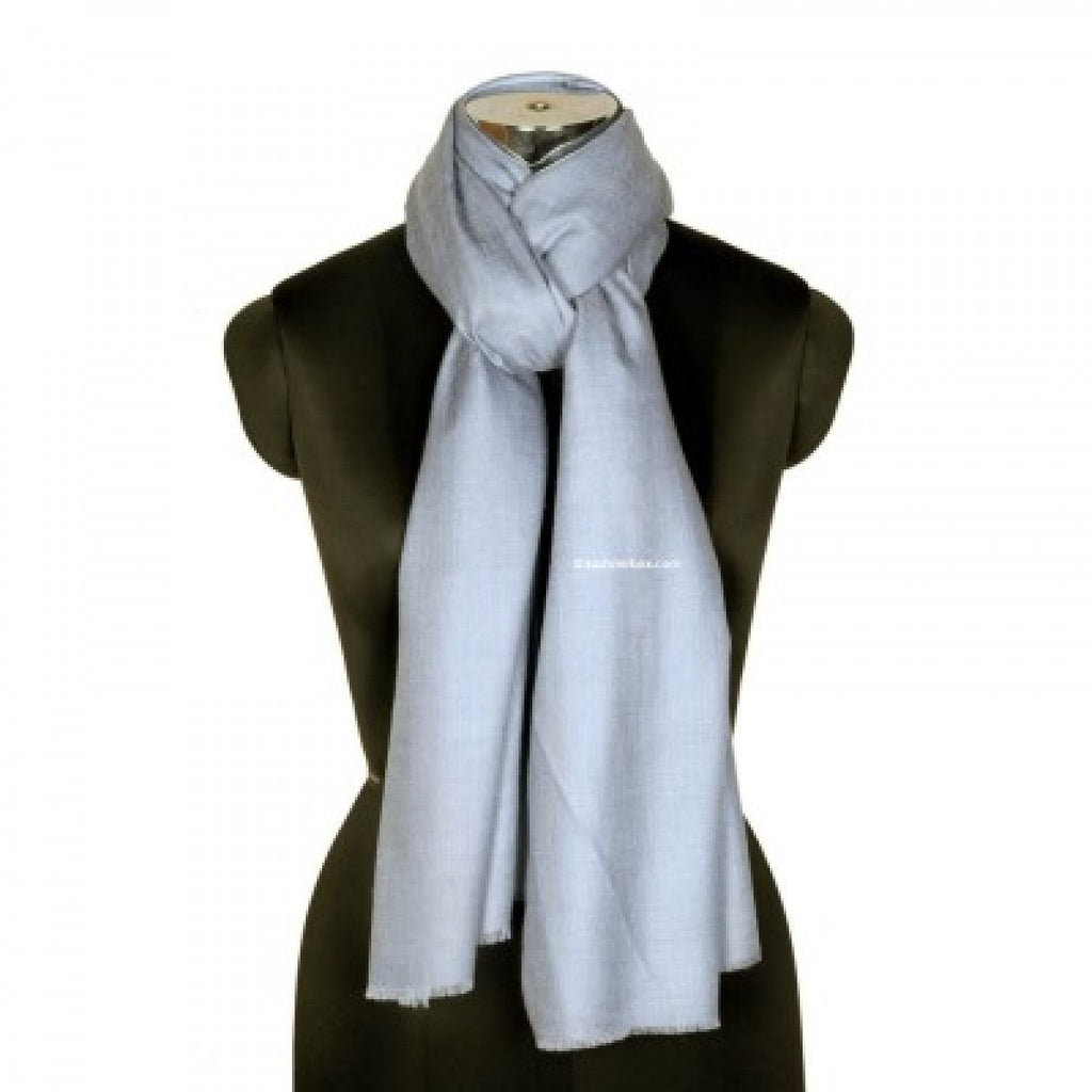 Light Blue Cashmere Pashmina Scarf