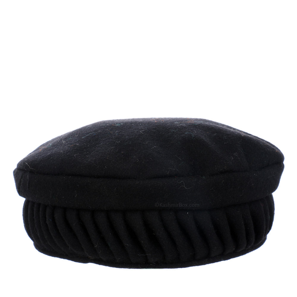 Black Twisted Pakol Cap