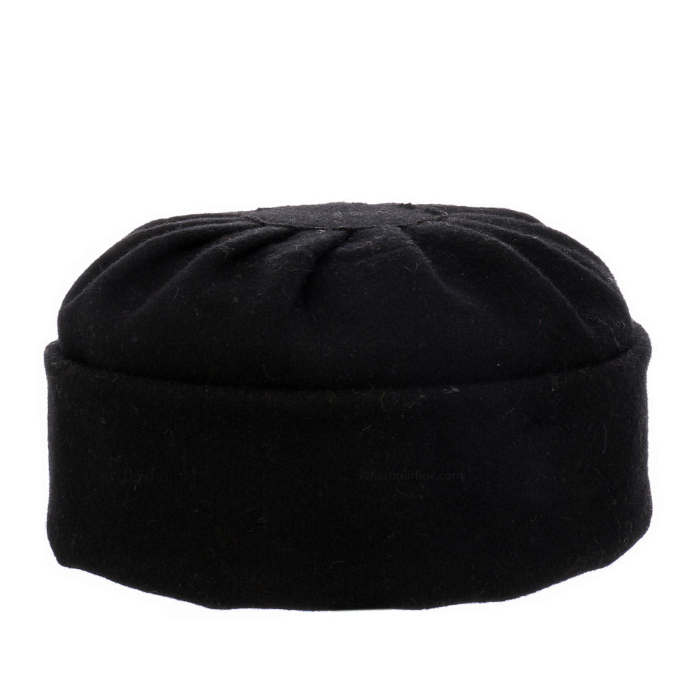 Black Folds Skull Cap