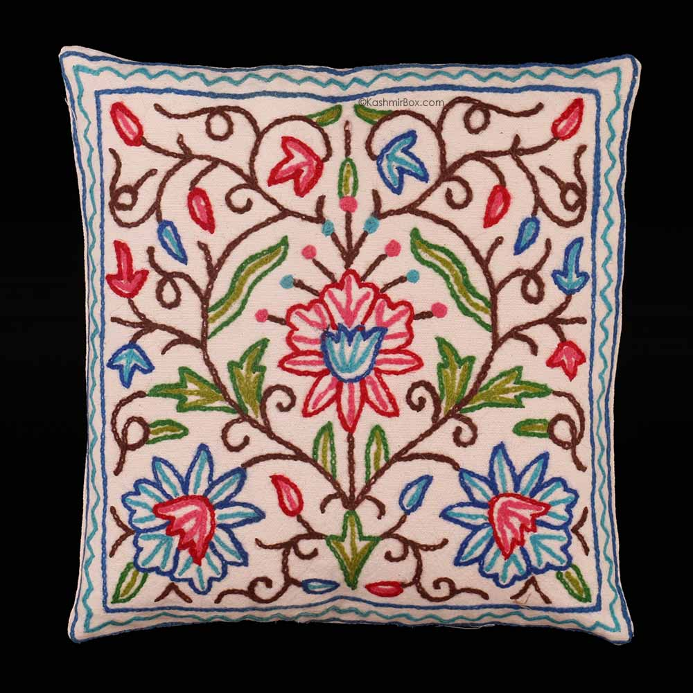 Floral Crewel Cushion Covers (Set of 6)