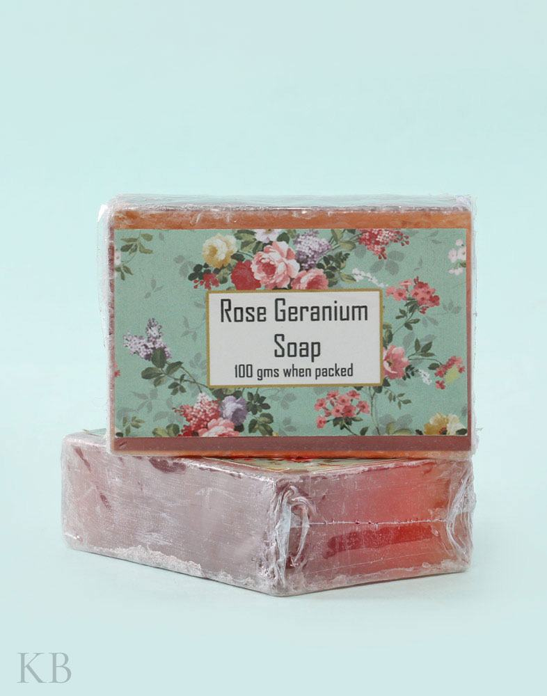 SC Rose Geranium Handmade Soap (Pair)