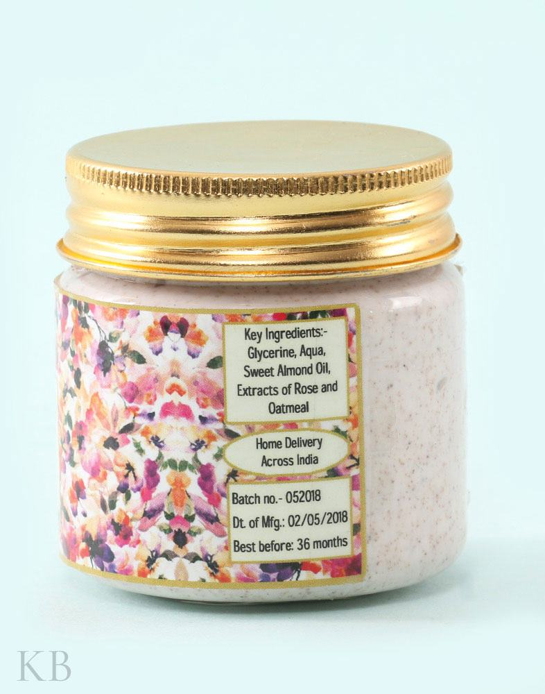 SC Rose Oatmeal Scrub (Pair) - Kashmir Box