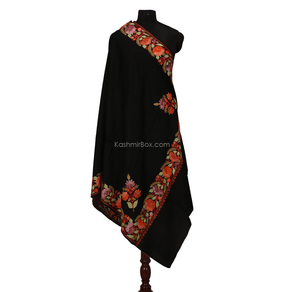 Black Aari Kari  Shawl