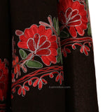 Brown Zari Lined Aari Embroidered Suit