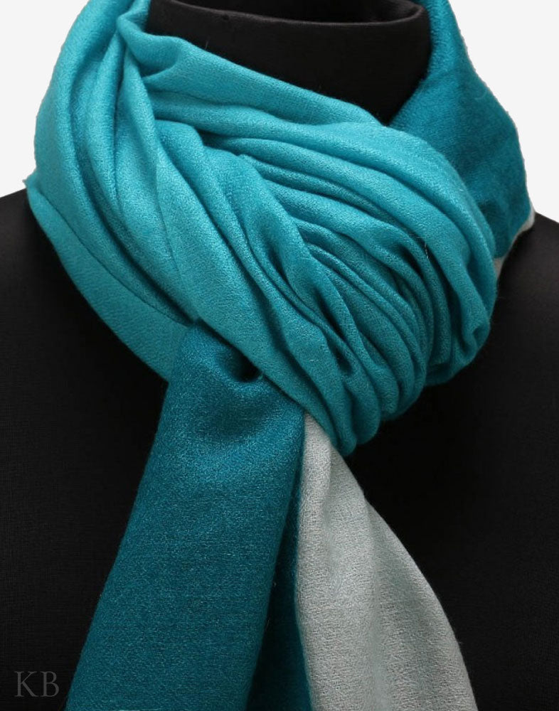 Stone Blue Mix Pure Pashmina Stole