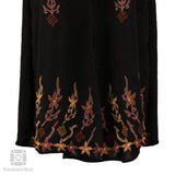 Color Florets Black Embroidered Abaya