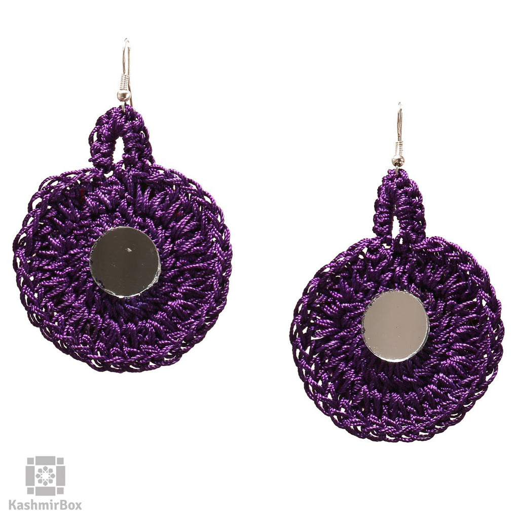 Deep Purple Crochet Jewellery Set