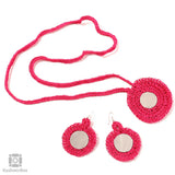 Bubbly Pink Crochet Jewellery Set