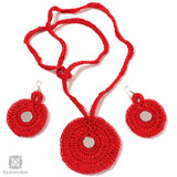 Ravishing Red Crochet Jewellery Set
