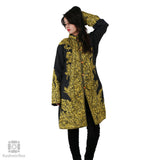 Black Green Paisley Embroidered Silk Jacket