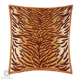 Brownish Creme Tiger Handmade Cushion Cover (Set of 3)