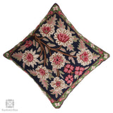 Navy n Pink Floral Bouquet Handmade Cushion Cover