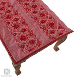 Deep Maroon Floral Bed Runner and Cushion Cover Set