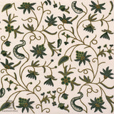 White Pine Flowery Embroidered Curtain