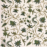 White Pine Flowery Embroidered Curtain - Kashmir Box