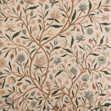 Creme Vine Crewel Embroidered Curtain