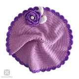 Purple Crochet Knit Table Mat (Set of 5)