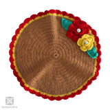 Chocolate Brown Crochet Knit Table Mat (Set of 5)