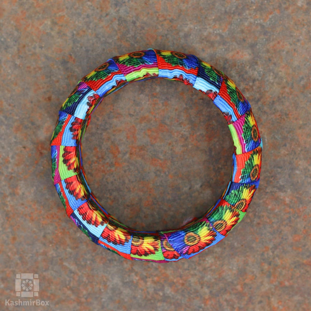 Color Array Printed Bangles (Set of 6)