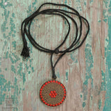 Red Tribal Beaded Necklace